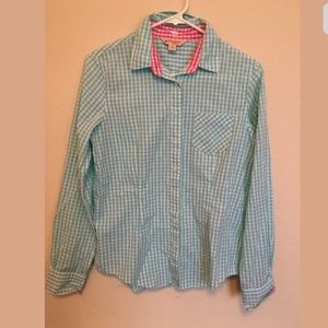 Brooks Brothers Green Pink Button Down Sz6 (r1)